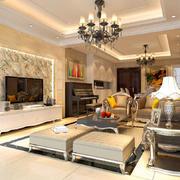 欧式客厅低矮茶几装饰