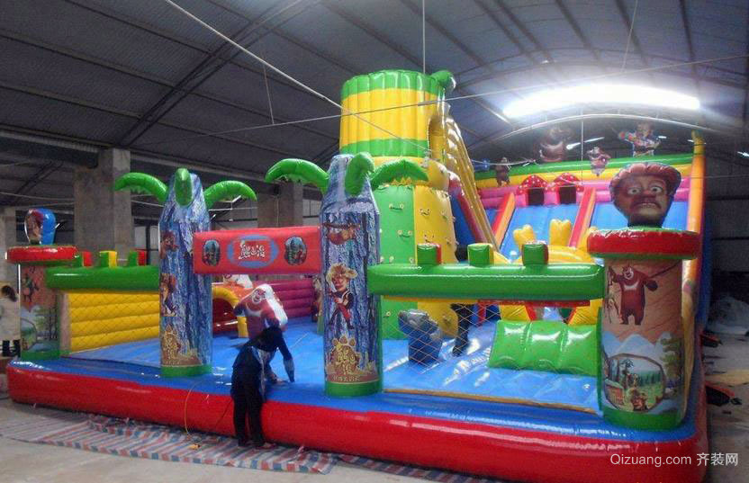 色彩缤纷种类齐全的儿童乐园设施效果图一览