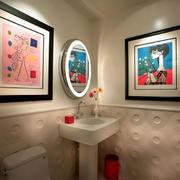 小型卫生间石膏墙壁设计