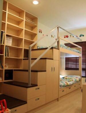 舒适温馨的双层床儿童房装修效果图