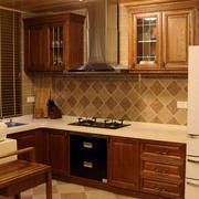 简约风格一体式厨房设计