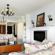 韩式田园风格客厅沙发设计