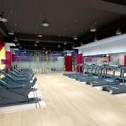 大型健身房背景墙