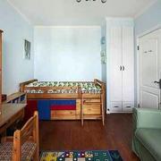 儿童房原木色橱柜装修