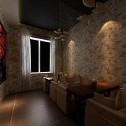 现代简约街角咖啡馆吧台装饰