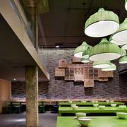 中式简约风格面馆创意灯饰设计