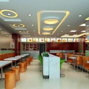 中式快餐店吊顶装修