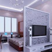 小户型客厅电视墙装饰