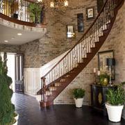 美式独栋别墅楼梯设计