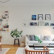 清新简约风格客厅背景墙设计