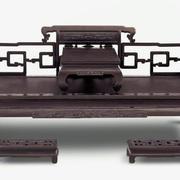 深色中式床饰装修