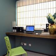 三室两厅书房电脑桌装饰