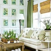 果绿色田园风格客厅装饰