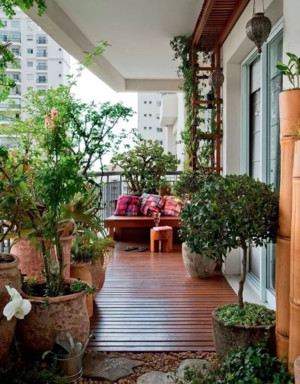 美不可言:带花园的阳台装修效果图