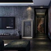 深色客厅玄关装饰