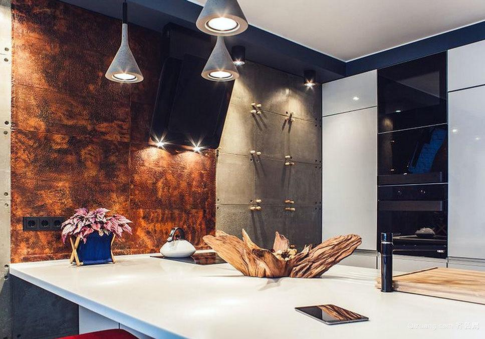 具有浓墨重彩的两室一厅公寓装修效果图