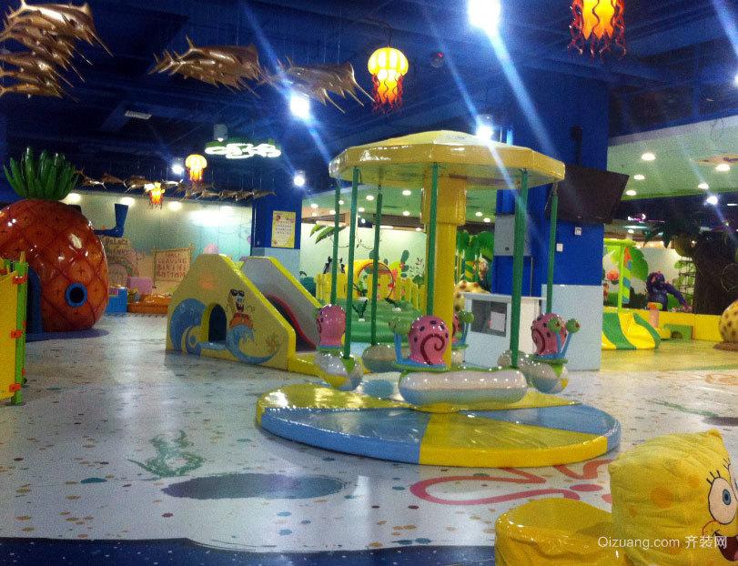 气氛欢快的精装室内儿童游乐场设计装修效果图欣赏图集