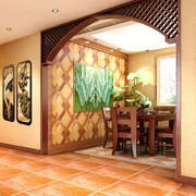 美式简约风格客厅背景墙设计