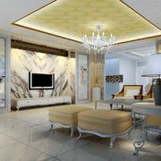 别墅客厅欧式背景墙设计