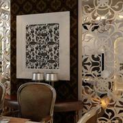 欧式餐厅隔断装修