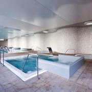 公共场所简约风格洗浴设计