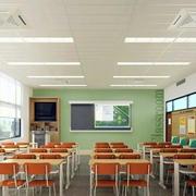 小学班级石膏板吊顶装饰