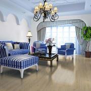 地中海风格客厅地板装修