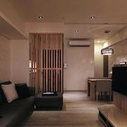 日式原木玄关装修