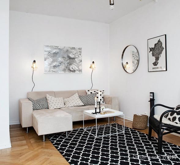 随时小憩 舒适小户型客厅转角沙发装修效果图片