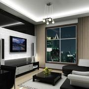 复式楼客厅电视背景墙
