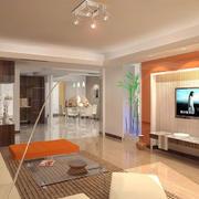 新房客厅简约电视背景墙