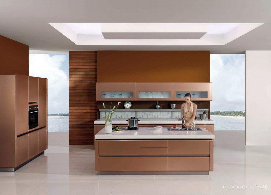 家居做饭好帮手:时尚流行的厨房志邦橱柜装修效果图