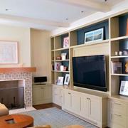 客厅整体电视柜设计