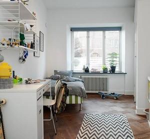 专为单身狗打造的温暖小卧室单人床装修效果图