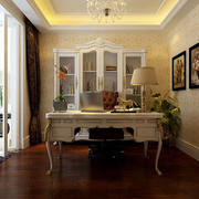 欧式奢华书房书桌装饰