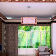 120平米房屋中式客厅吊顶设计