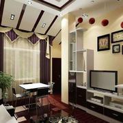 极度简约风格电视柜背景墙设计