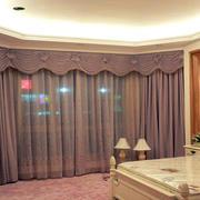 简约风格紫色别墅窗帘装修
