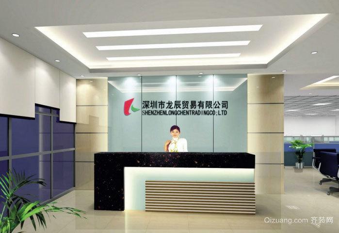 公司的形象:创意logo墙设计装修效果图