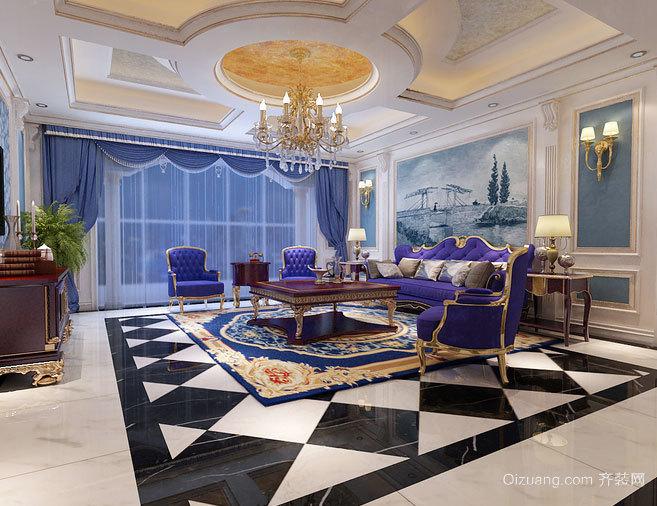 唯美法式:紫色山庄新婚夫妇的唯美婚房装修设计