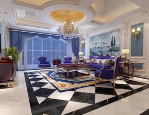 紫色婚房沙发装饰