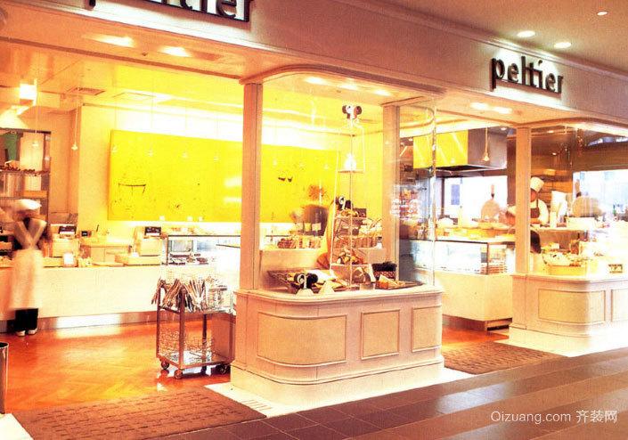 50平米精美优雅的欧式蛋糕店装修效果图