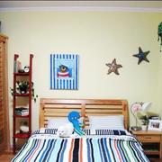 儿童房简约床头背景墙