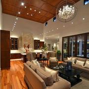 美式风格客厅led灯图示
