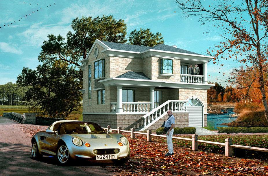 美丽宜人的别墅景观装修效果图