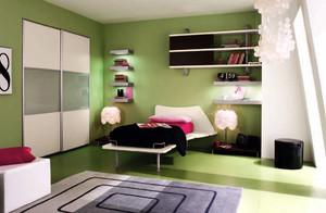 儿童房纯色壁纸装修