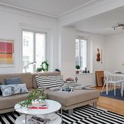 混搭风格客厅石膏线设计