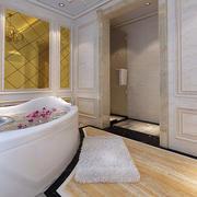 婚房卫生间浴缸装修