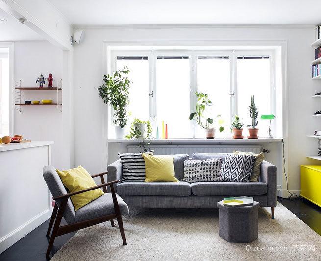 不要一味向前看 精彩简约的客厅沙发背景墙装修效果图