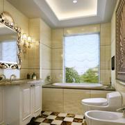 欧式奢华卫生间瓷砖设计